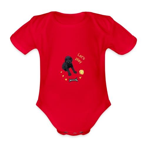 Giant Schnauzer puppy - Organic Short-sleeved Baby Bodysuit