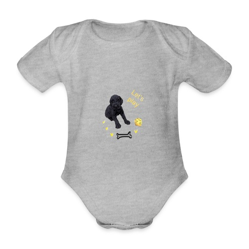 Giant Schnauzer puppy - Organic Short-sleeved Baby Bodysuit