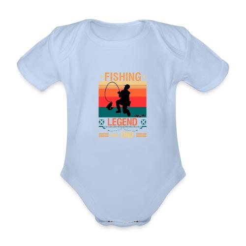 Fiskelegend Även Kallad Pappa Roliga Pappa tshirt - Ekologisk kortärmad babybody