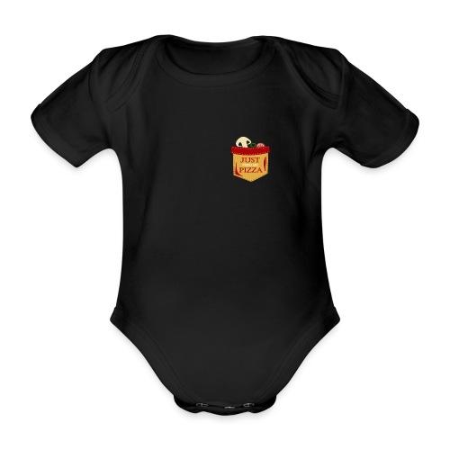 Dammi solo la pizza - Body ecologico per neonato a manica corta