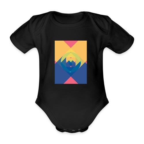 square and shadow - Baby Bio-Kurzarm-Body