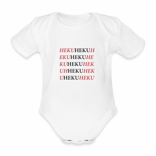 HekuHeku - Vauvan lyhythihainen luomu-body