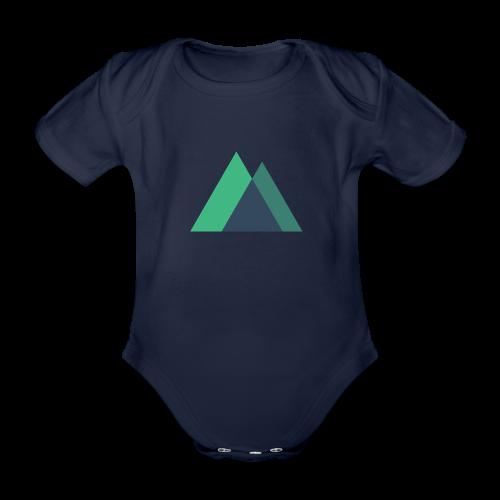 Mountain Logo - Organic Short-sleeved Baby Bodysuit