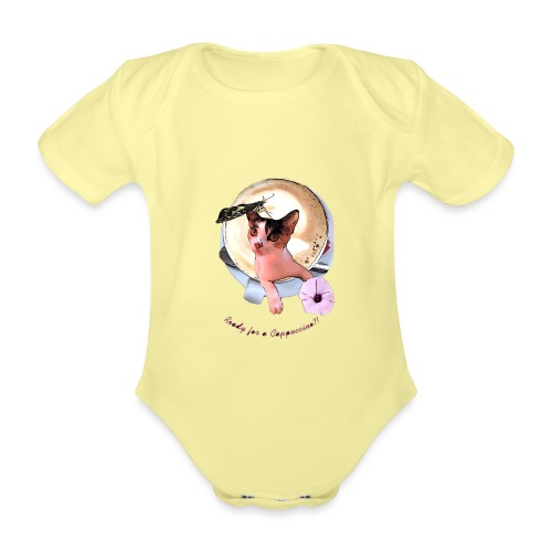 Ready for a cappuchino? - Organic Short-sleeved Baby Bodysuit