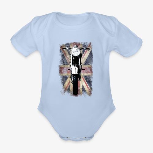 Vintage Motor Cycle BSA feature patjila - Organic Short-sleeved Baby Bodysuit
