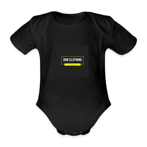 Don kläder - Ekologisk kortärmad babybody