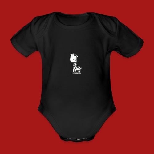 CuteBaby Giraf - Kortærmet babybody, økologisk bomuld