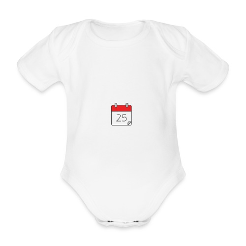 count down - Organic Short-sleeved Baby Bodysuit