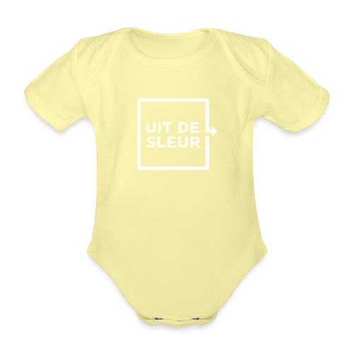 Uit de Sleur - Baby bio-rompertje met korte mouwen
