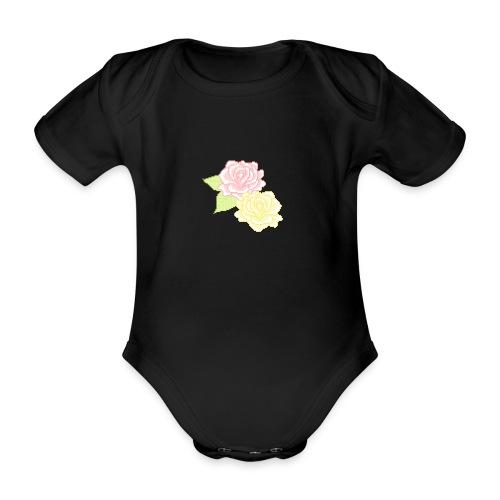 Flower child - Kortærmet babybody, økologisk bomuld