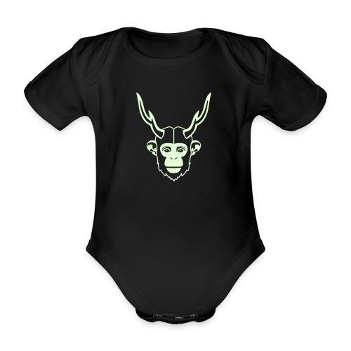 scimmiacervo stencil - Body ecologico per neonato a manica corta