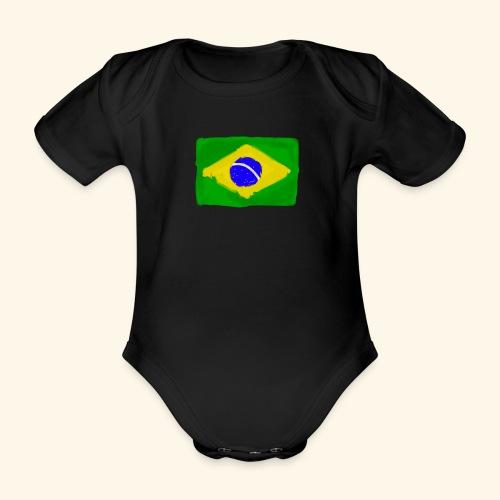 Brazilian flag InWatercolours - Ekologisk kortärmad babybody