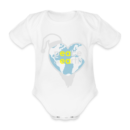 MR Peace on Earth - Baby bio-rompertje met korte mouwen