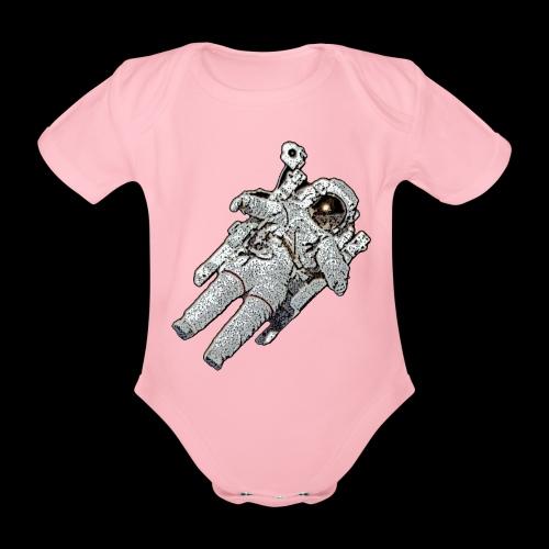 Small Astronaut - Organic Short-sleeved Baby Bodysuit