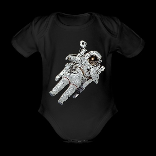 Small Astronaut - Organic Short-sleeved Baby Bodysuit