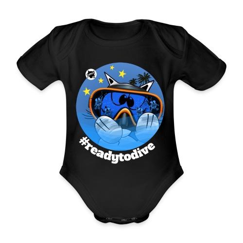 Astrokatze Fisch - Baby Bio-Kurzarm-Body