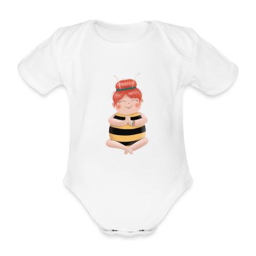 Biene am Meditieren - Baby Bio-Kurzarm-Body