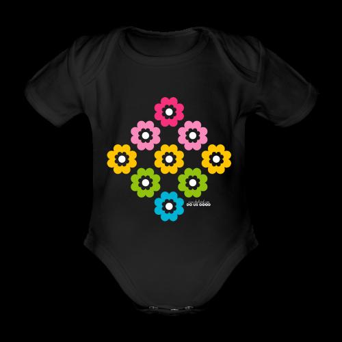 RAINBOW BLOOM - Vauvan lyhythihainen luomu-body