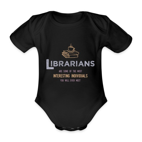 0336 Librarian & Librarian Funny saying - Organic Short-sleeved Baby Bodysuit