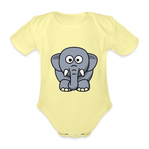 Olifantje - Baby bio-rompertje met korte mouwen
