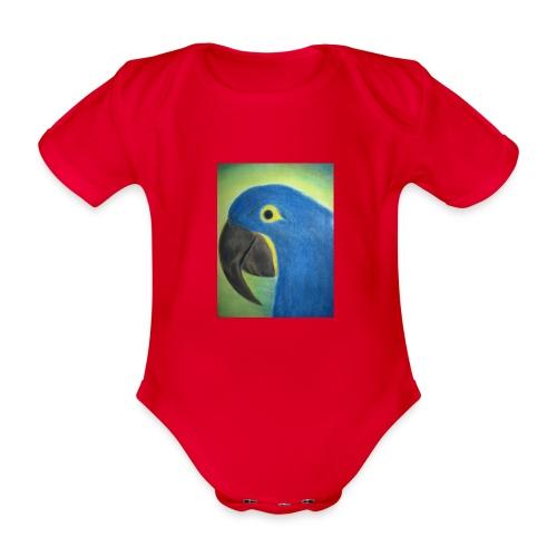 Hyasinttiara - Vauvan lyhythihainen luomu-body