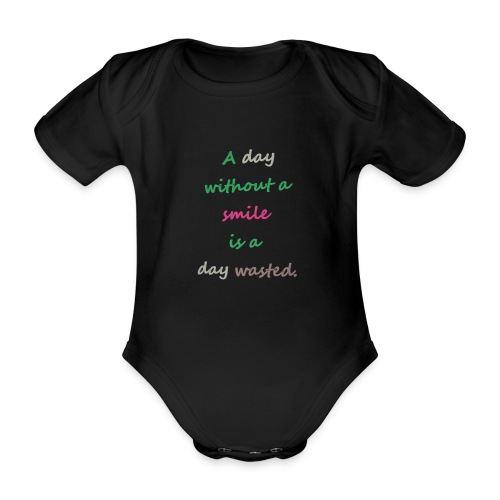 Say in English with effect - Organic Short-sleeved Baby Bodysuit