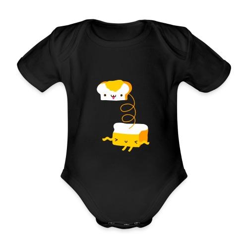 Cat sandwich gatto sandwich - Body ecologico per neonato a manica corta