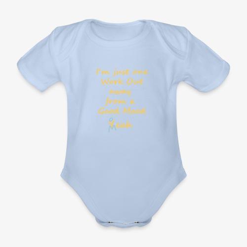 Good Mood Quote design patjila - Organic Short-sleeved Baby Bodysuit