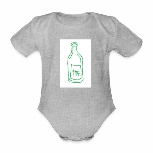 Alkoholi - Vauvan lyhythihainen luomu-body