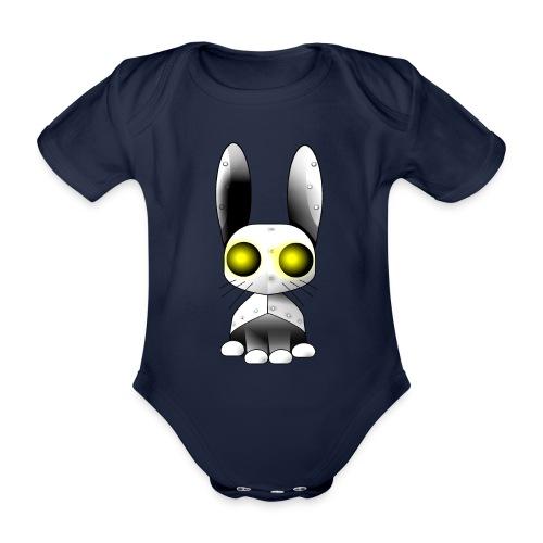 robotkanin med gula ögon - Organic Short-sleeved Baby Bodysuit