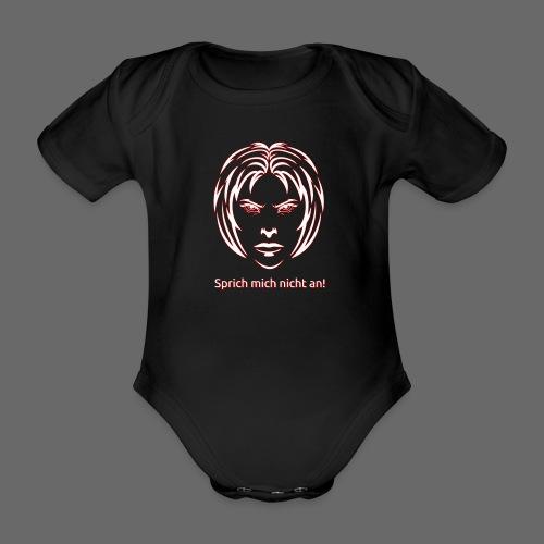 Nicht ansprechen! in weiß - Baby Bio-Kurzarm-Body