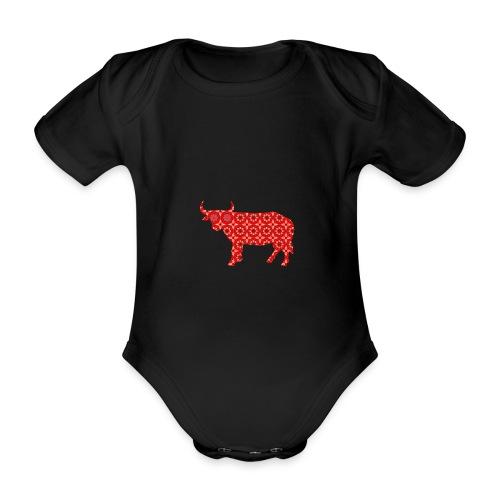 Roter Bulle - Baby Bio-Kurzarm-Body