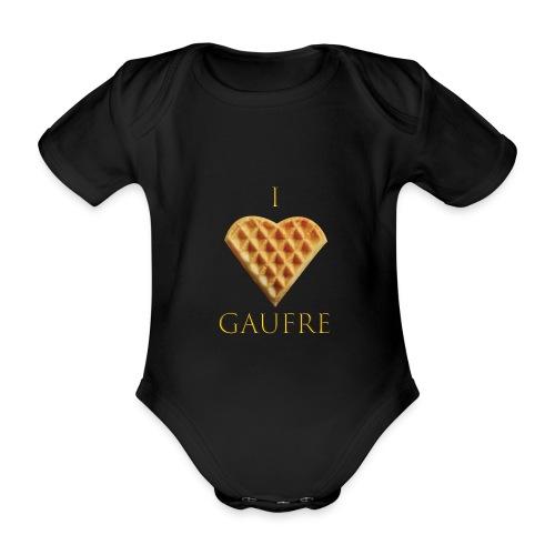 i love gaufre - Body Bébé bio manches courtes