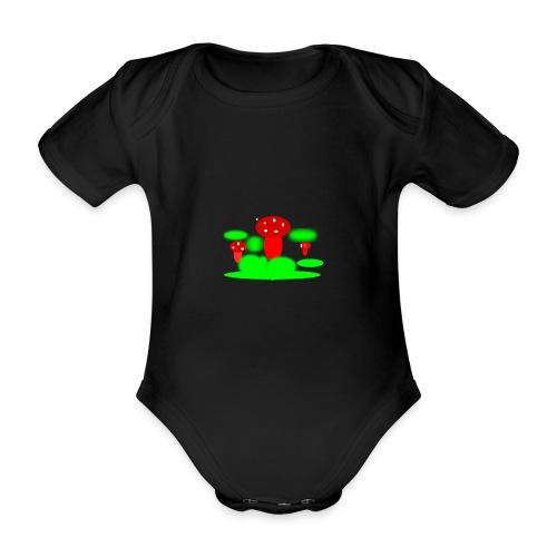 Mushrooms - Ekologisk kortärmad babybody