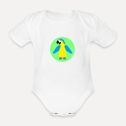 Yellow-breasted Macaw - Organic Short-sleeved Baby Bodysuit