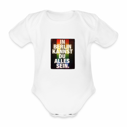 City of Freedom Berl!n - Organic Short-sleeved Baby Bodysuit