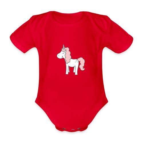 unicorn as we all want them - Kortærmet babybody, økologisk bomuld