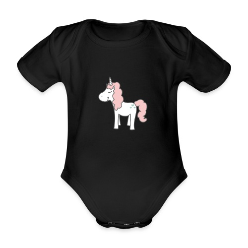 unicorn as we all want them - Kortærmet babybody, økologisk bomuld