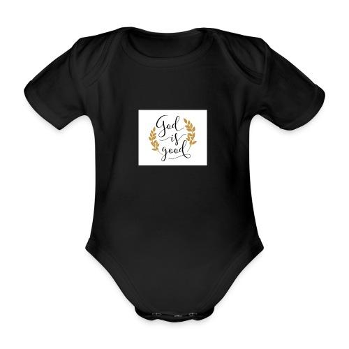 God is good label Jetzinger - Baby Bio-Kurzarm-Body