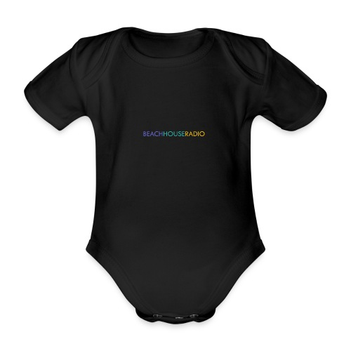 Beach House Radio Logo - Organic Short-sleeved Baby Bodysuit