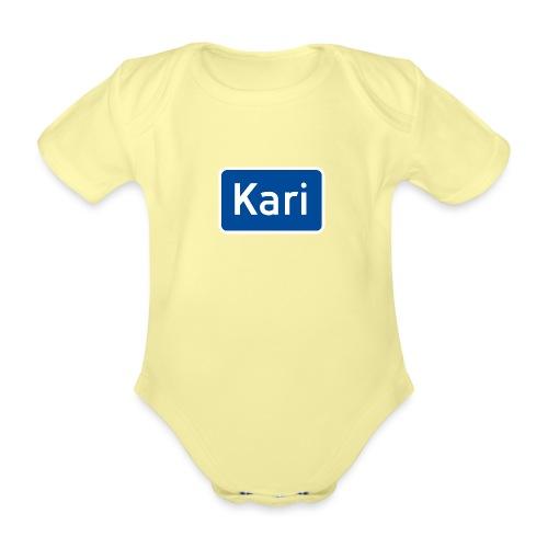Kari veiskilt (fra Det norske plagg) - Økologisk kortermet baby-body