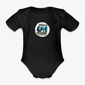U & I Logo - Organic Short-sleeved Baby Bodysuit