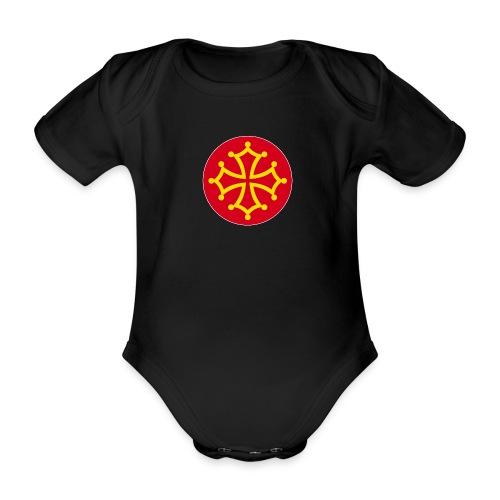 Bollino occitano 12x12 N - Body ecologico per neonato a manica corta