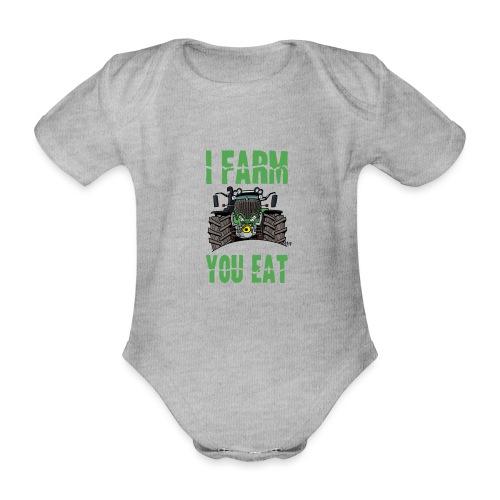 I farm you eat F - Baby bio-rompertje met korte mouwen