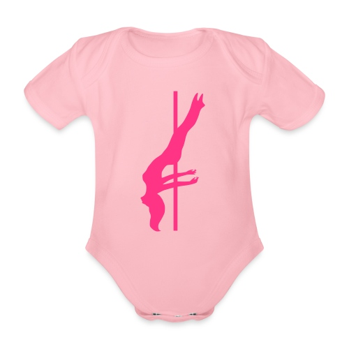 Pole Dance - Body ecologico per neonato a manica corta