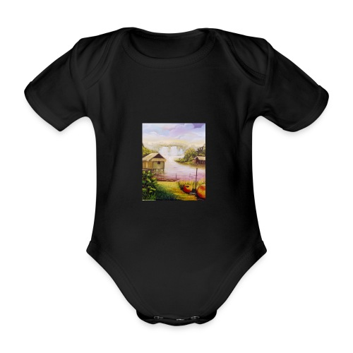 Heather Grey Water Fall Unisex Classic Hoodie - Organic Short-sleeved Baby Bodysuit