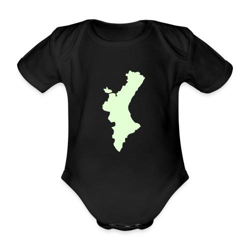 València - Body orgánico de maga corta para bebé