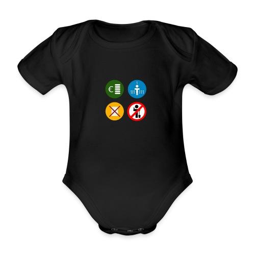 4kriteria ubi vierkant trans - Baby bio-rompertje met korte mouwen