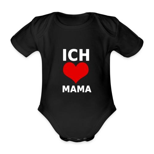 ichliebemama weiss png - Baby Bio-Kurzarm-Body