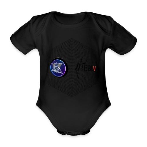 disen o dos canales cubo binario logos delante - Organic Short-sleeved Baby Bodysuit